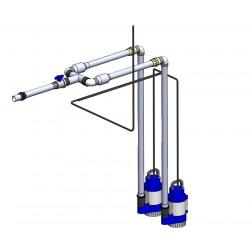 POK pump station dual DN50 / manifold plumbing kit - 65 mm