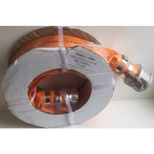 50mm Layflat x 25 meters with camlock fittings