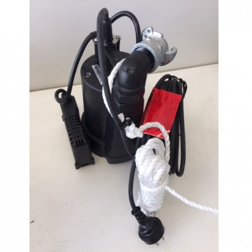 Submersible Pump BPO - 25mm minsup connector rope 3mm 'puddle sucker' low level auto pump - builder pack4