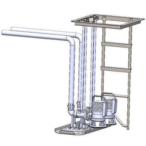 ypical Ecov pedestal assembly - showing optional pump attachment