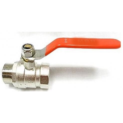 full flow ball valve - brass