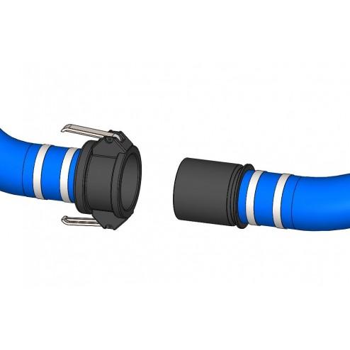 POK 40 mm x 2m spiral pvc flexible hose - blue