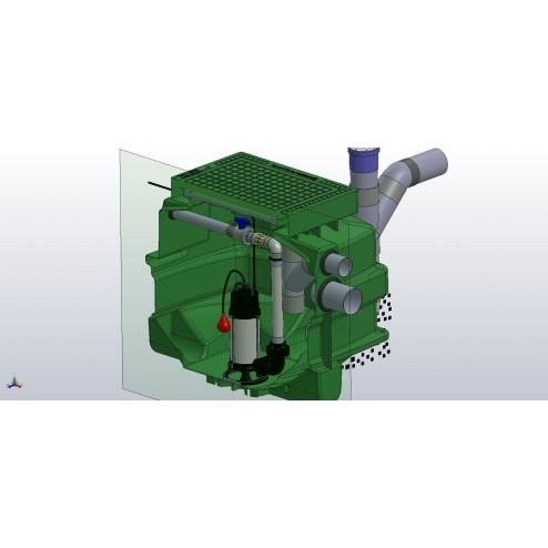 Packaged SPARKLE Pump Station -  transfer gravitational sewage