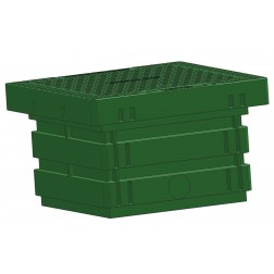 ECOV 0250 litre inground tank with cover - 600x600mm - valve box