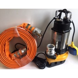 Submersible Pump KV - 1hp drainage pump 50mm Camlock E connector rope automatic - builder pack7