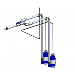 POK pump station dual DN32 / manifold plumbing kit - 40 mm