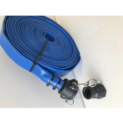 POK  25mm x 20 meter medium density PVC layflat hose assembly