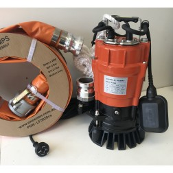 Submersible Pump KC - 0.8hp drainage pump 25mm Minsup connector rope automatic - builder pack9