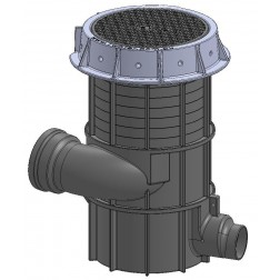 SPARKLE Storm Save1 pipe inlet stormwater seperator + riser US Pat. 10,301,188 B2