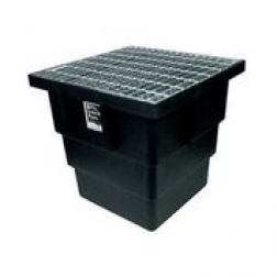 ECOV 32 litre pit with grate - LDPE 345mm wide x 450 mm depth drainage  (Australia only)