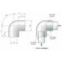 POK 25mm M&F elbow 90 degree #13 - poly