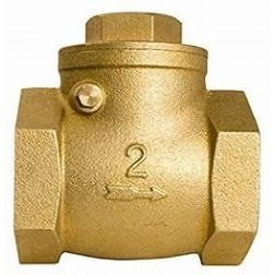 POK 50mm swing check valve - brass