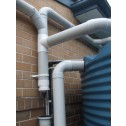 A typical small capacity wall mount first flush Installation